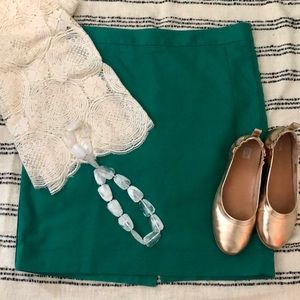 The Limited Kelly green pencil skirt